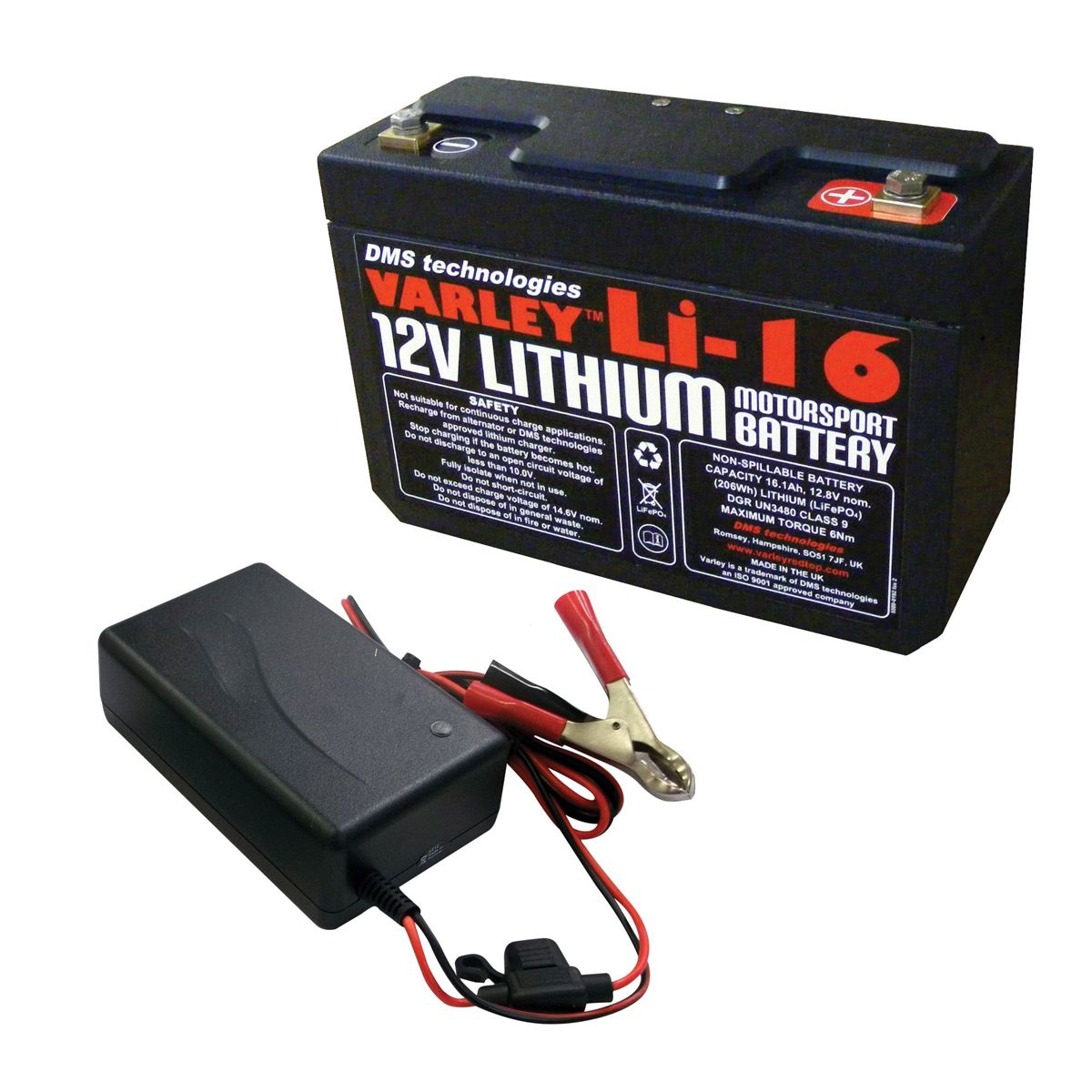 VARLEY Lithium LI-16 Battery & 6A Charger UK - Spedeworth Fabrications